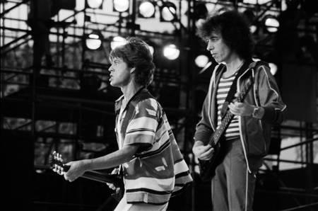 Mick Jagger et Bill Wyman