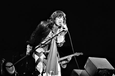 Mick Jagger en un concierto de los Rolling Stones...