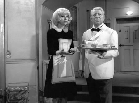 Mireille Darc et Jean Gabin