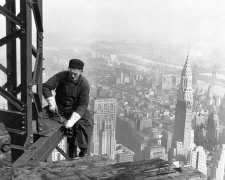 Worker on the Empire State Building in 1930