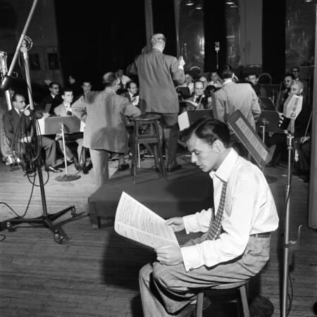 Portrait de Frank Sinatra en 1947