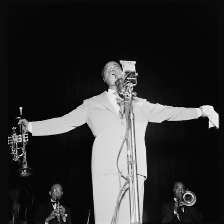 Portrait de Louis Armstrong au Carnegie Hall