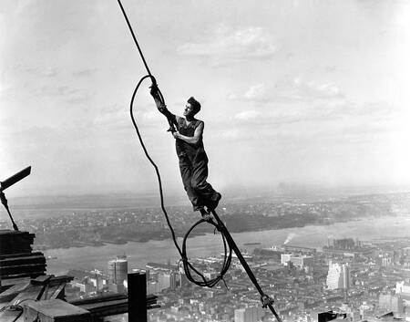Worker on the Empire State Building