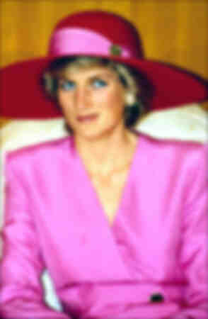 Princess Diana duting an official visit in Abou Dhabi March 1989