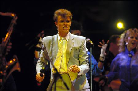 David Bowie Performs at Live Aid Wembley 1985