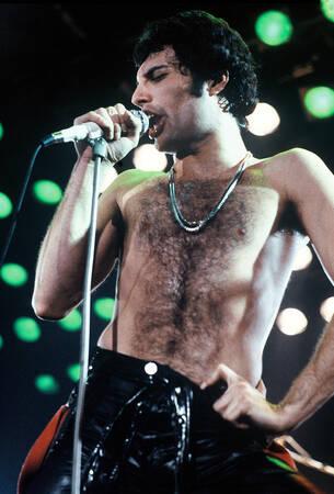 Freddie Mercury of Queen Performs On Stage In Paris 1979