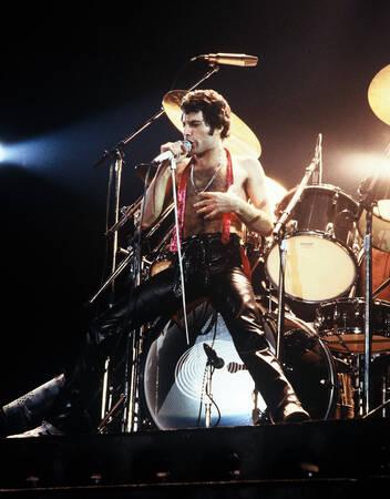 Freddie Mercury On Stage In France 1979