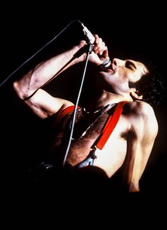 Freddie Mercury On Stage In Paris February 1979