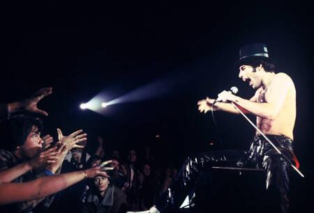 Freddie Mercury On Stage In Paris France 1979