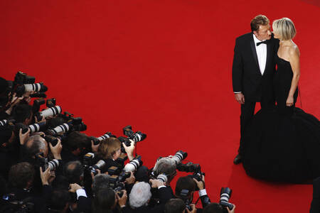 Johnny Hallyday And Laetitia At The Cannes Film Festival