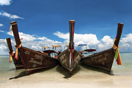 The Zeavola pirogues beach