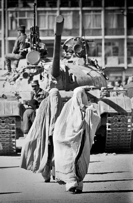 Afghan Women and Tank