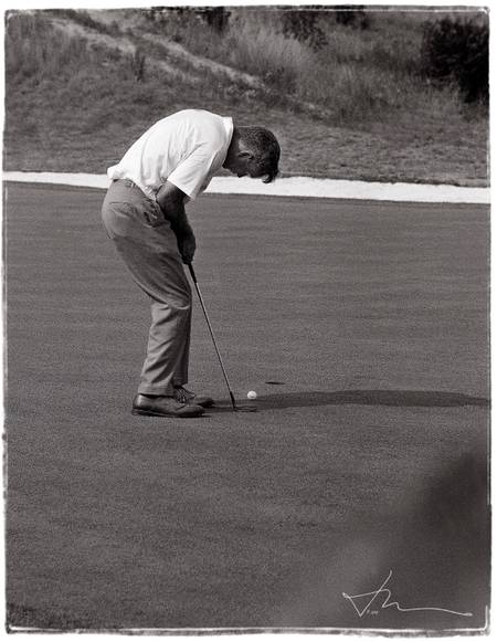 Palmer Putts 1964 US Open