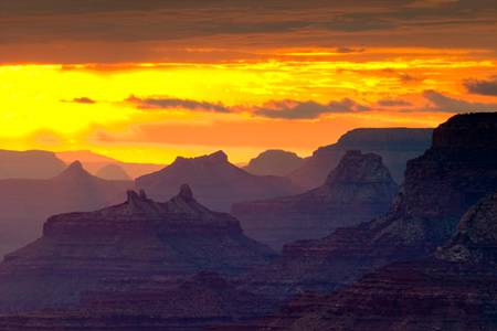 Tramonto del Grand Canyon