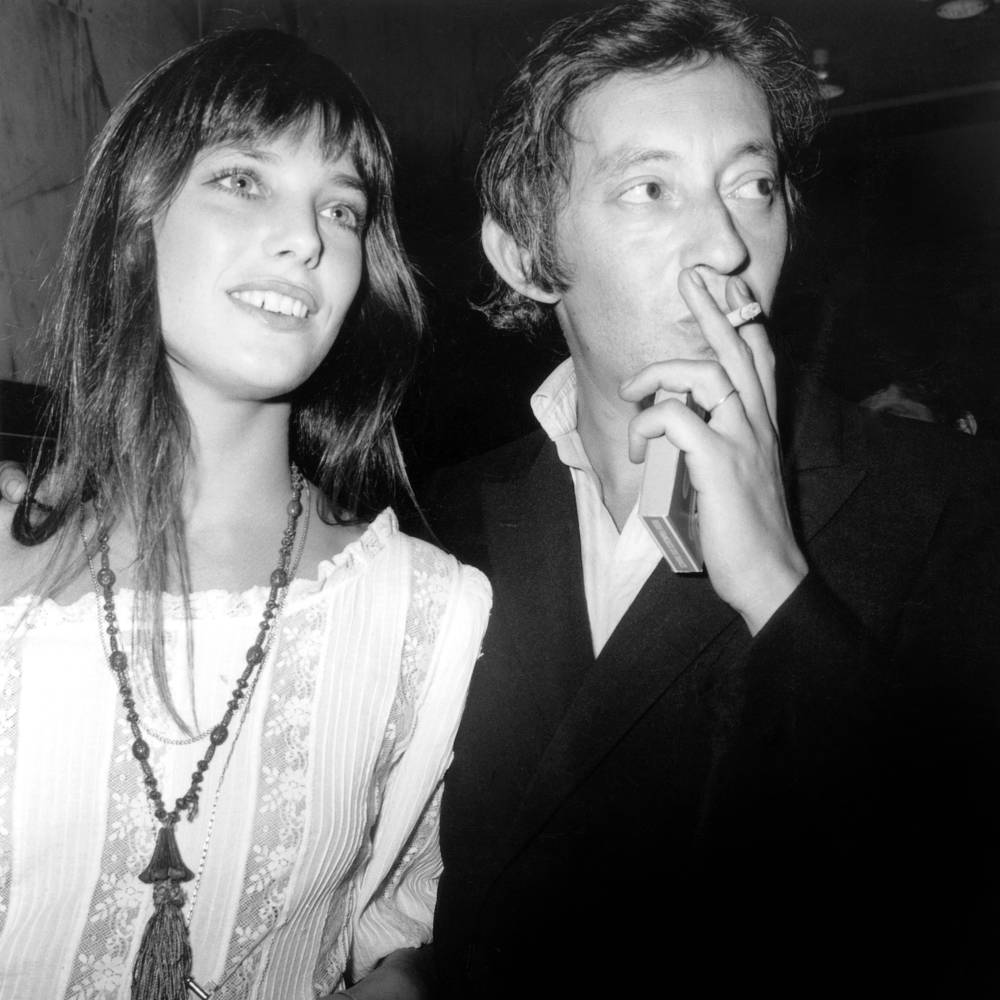 Jane Birkin And Serge Gainsbourg In Photographic Print For Sale