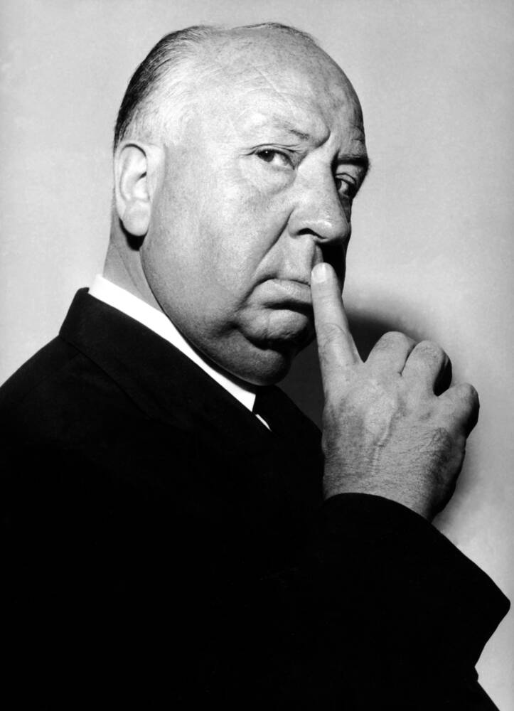 Cuadro y póster El director Alfred Hitchcock en 1960 - Compra y venta