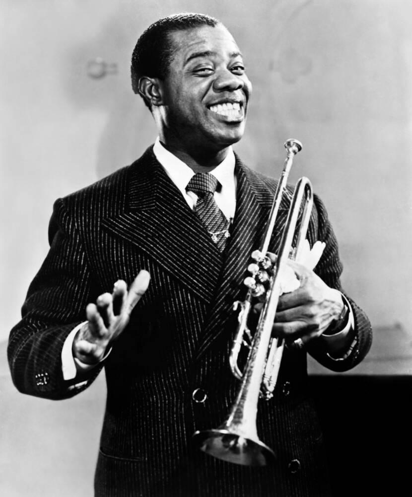 Louis Armstrong Red Hot Jazz Photographie de  Bridgeman Images