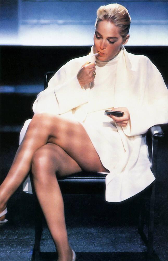 Sharon Stone In Basic Instinct 1992 Photographic Print For Sale