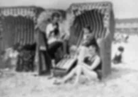 at the beach in 1927