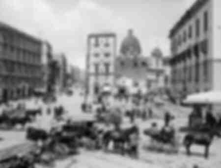 En pittoresk gata i Neapel - Corso Vecchio Garibaldi