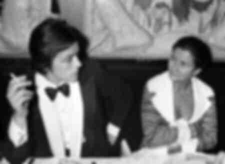 Alain Delon and Simone Veil in 1976
