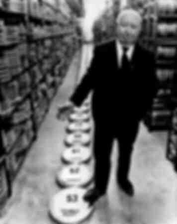 Alfred Hitchcock im Jahr 1976