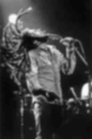 Bob Marley en concierto en 1976