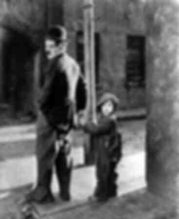 Charles Chaplin y Jackie Coogan