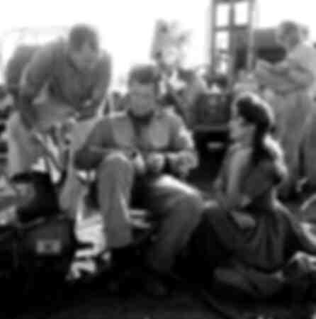 Clint Eastwood mit seinem Team