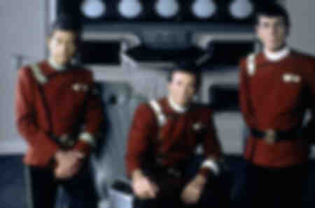 Deforest Kelley - William Shatner - Leonard Nimoy in Star Trek II