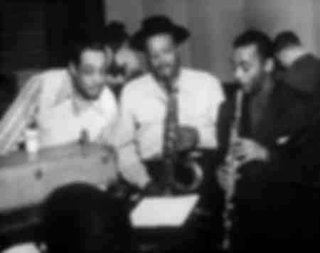 Duke Ellington con Ben Webster y Jimmy Hamilton