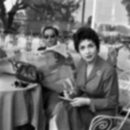 Gina Lollobrigida met haar man Milko Skofic 1955