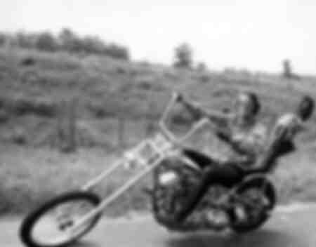 Jack Nicholson sulla motocicletta Harley Davidson