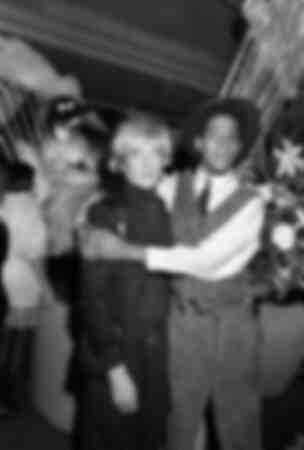 Jean-Michel Basquiat och Andy Warhol 1984