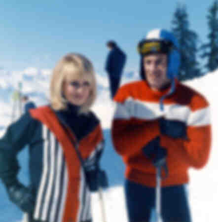 Jean Paul Belmondo skidåkning