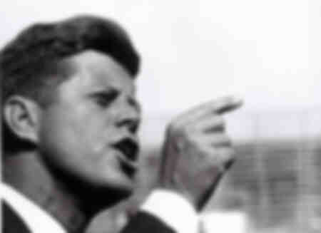 John Fitzgerald Kennedy pendant les campagnes électorales en 1960