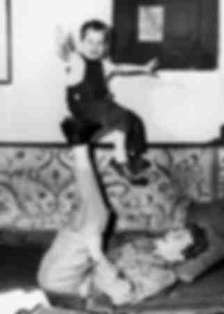 Kirk Douglas with his son Michael
