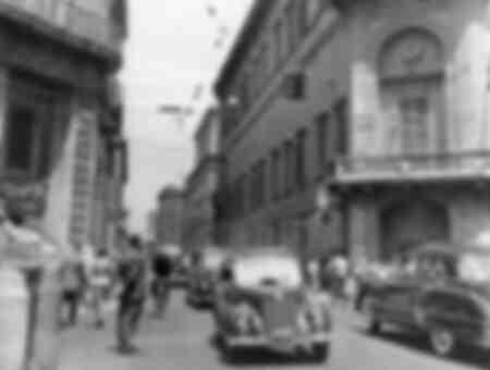 Korsningen av Via delle Quattro Fontane och Via del Quirinale i Rom
