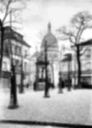 La plaza del Tertre en Montmartre