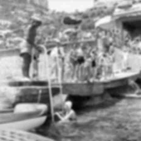 La princesa Soraya en Capri 1950