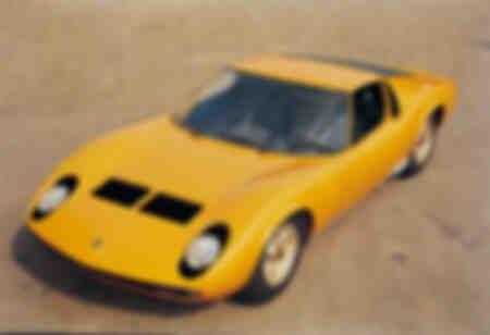 Lamborghini Miura en Italie 1966