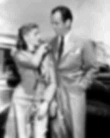 Lauren Bacall et Humphrey à Pasadena