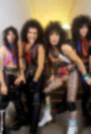 Il gruppo Kiss nel backstage prima del concerto