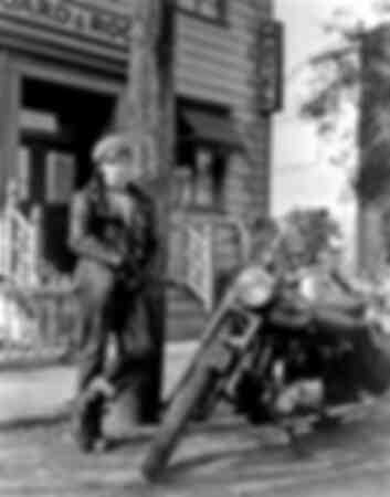 Marlon Brando and his motorcycle a Triumph