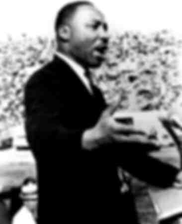 Martin Luther King making speech in early 1960s