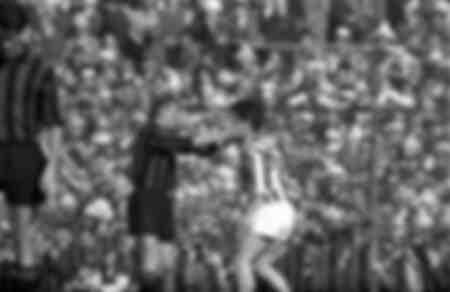 Match Milan against Juventus in 1961