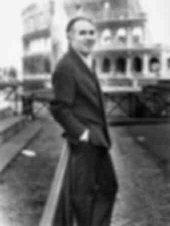 Michel Piccoli in front of the Colosseum 1970