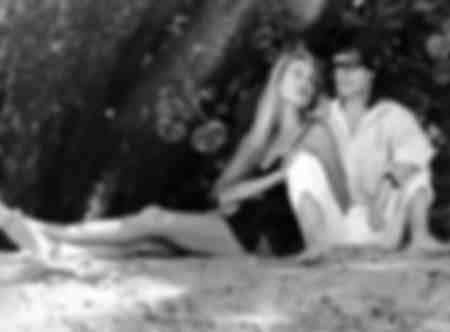 Mick Jagger und Jerry Hall in Barbados