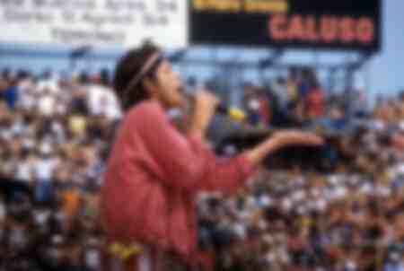 Mick Jagger at a Rolling Stones concert