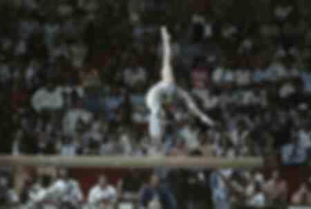 Nadia Comaneci en los Juegos Olímpicos de Montreal -1976